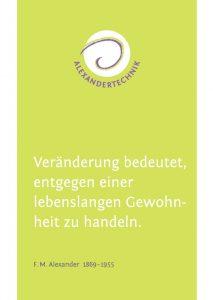 Flyer für Alexandertechnik von Karin Burkart Müllheim